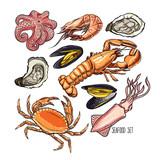 marine animals or seafood
