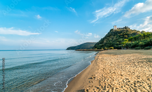 Fotobehang Toscane View of calm sea and Punta Ala beach in Tuscany, Italy