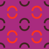 Button lock jewelry seamless pattern. Strict line geometric pattern for your design.