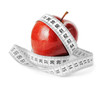 Diet Concept Measuring Tape And Apple