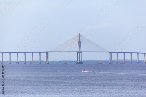 Aluminium Bruggen Bridge on beach