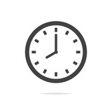 Clock vector icon isolated - 195940410