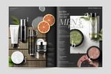 Cosmetic magazine template - 195941885