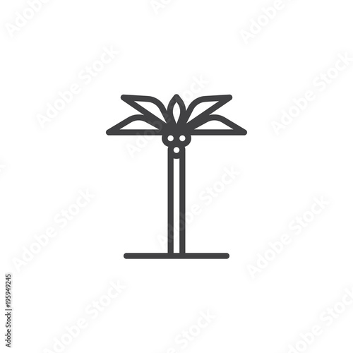 Palm Tree Outline Icon Linear Style Sign For Mobile Concept And Web