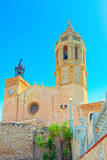 Sitges Town Hall and Church  Parish of Saint Bartholomew and San - 195950249