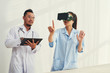 Medical workers exploring virtual reality - 195954430