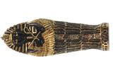 mummy of the pharaoh on a white isolated background