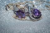 Silver Pendant with Purple Zircon
