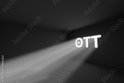 Fotobehang Abstractie OTT rays volume light concept 3d illustration