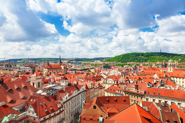 Red roofs in Prague