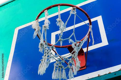 Fotobehang Basketbal the ring of a basketball basket