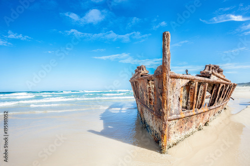 Aluminium Schipbreuk ship wreck on fraser island, Australia