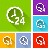 clock icons with long shadow