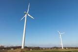 wind turbine with blue sky - 195983659
