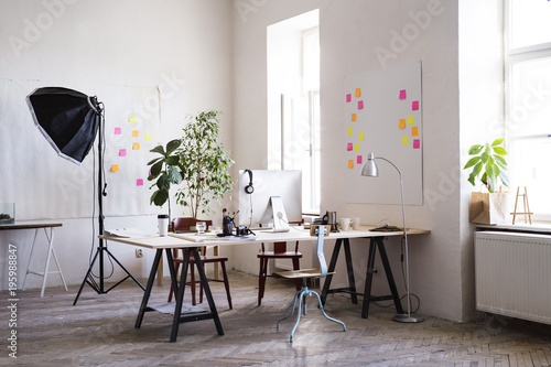 Foto Murales The interior of an empty modern office or a studio.