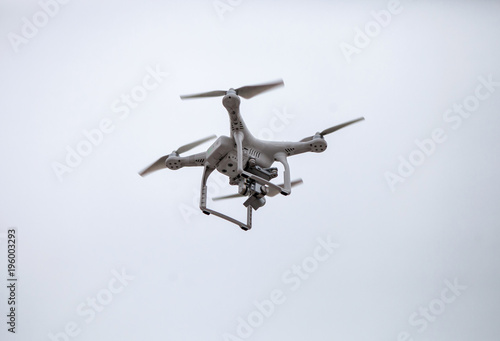 Dron with a video camera