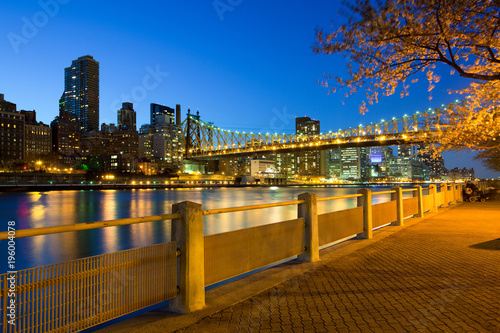 Foto op Aluminium New York The shore of Roosevelt Island and Queensboro Bridge, Manhattan, New York City, USA