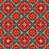 mosaic kaleidoscope seamless pattern texture background - full spectrum colored - red, orange, green, blue, purple, yellow - 196004634