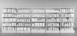 Viele weiße Produkte im Regal im Supermarkt - 196011496