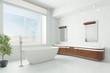 Luxuriöses Badezimmer mit Badewanne - 196011630