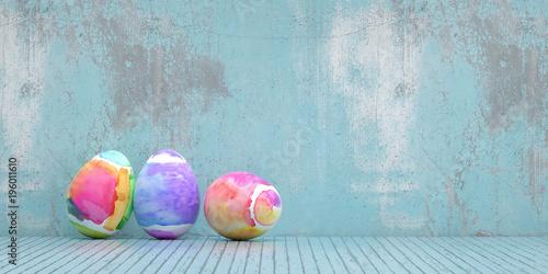 Wielkanocni jajka dla wielkanocy przeciw grunge tłu