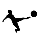black football silhouette clipart on white background