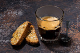 espresso and Italian cookies cantucci