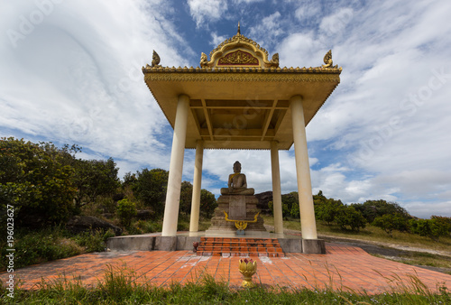 Plexiglas Boeddha Buddha shrine in Cambodia