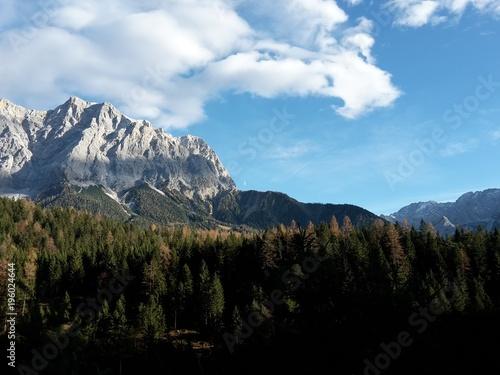 Plexiglas Zwart Zugspitze Ehrwald