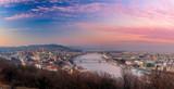 Beautiful sunset over Budapest from Gellert hill, Hungary - 196026231