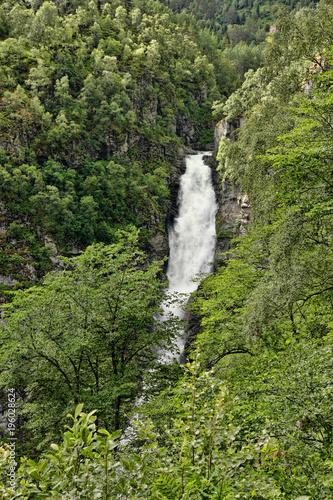 The beauty of Norwegian waterfalls
