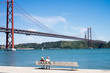 Famous red bridge tejo river Lisbon