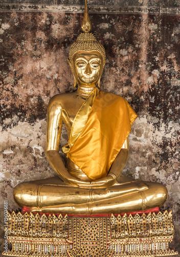 Plexiglas Boeddha Buddha statue / Buddha / Old temple / Temple / thailand /landmark of Thailand and Asia
