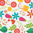 spring flowers natural season pattern vector illustration - 196038054