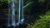 Beautiful waterfall at tropical rain forest