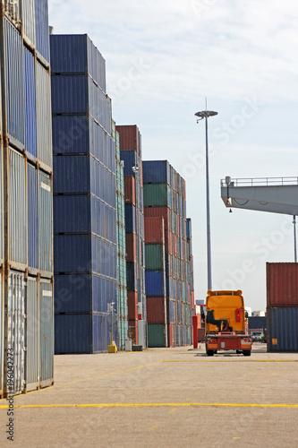 Foto op Plexiglas Rotterdam container, hafen, rotterdam, niederlande