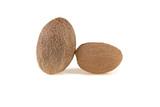 two nutmeg isolated on white background - 196047284