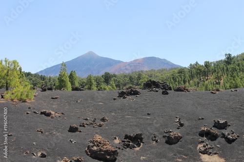 Fotobehang Khaki Volcán Negro