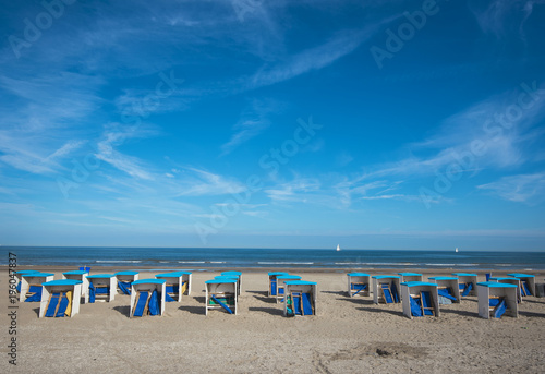 Fotobehang Noordzee Holland Strand Sommer