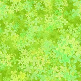 Abstract leafy pattern, Light leaves on green background, Cloverleaf spring texture, Seamless four leaf clover illustration - 196048214