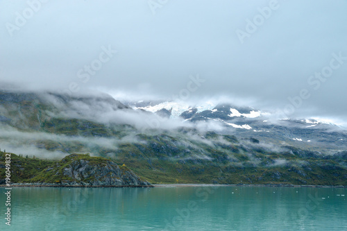 Blue sky Skagway. Alaska. Glacier Bay. National Park