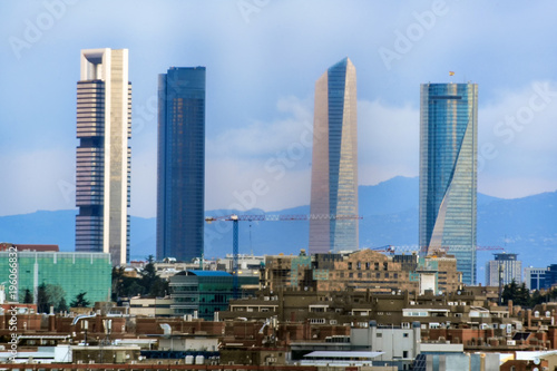 In de dag Madrid Madrid Skyline