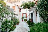 village of Anafiotika  under the Acropolis,Athens Greece - 196069608