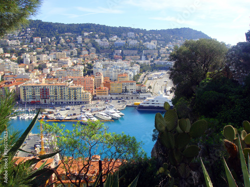 Foto op Canvas Nice Panoramic view of the Nice city port