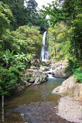 Staande foto Bali Wasserfall, Bali, Indonesien, GitGit