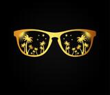 sunglasses gold design - 196082459