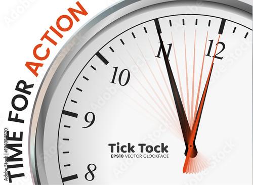Fototapeta Tick Tock - Time for Action