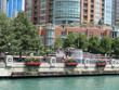 Riverfront fountain on the Chicago River