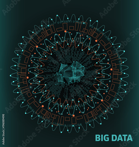 Big Data Visualization. Futuristic Infographic. Information Abstract Design