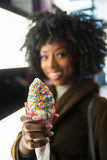 Ice Cream cone with candy sprinkles